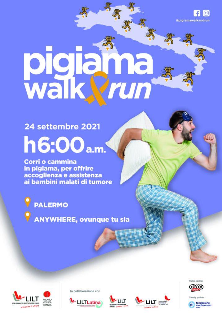 2021 07 08 Lilt Pigiama walk and run locandina PALERMO 1
